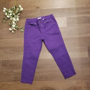 Coldwater Creek Purple Ankle Skinny Stretch Jeans